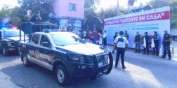 """Inician operativo """"Quédate en Casa"""" en San Pedro Pochutla"""
