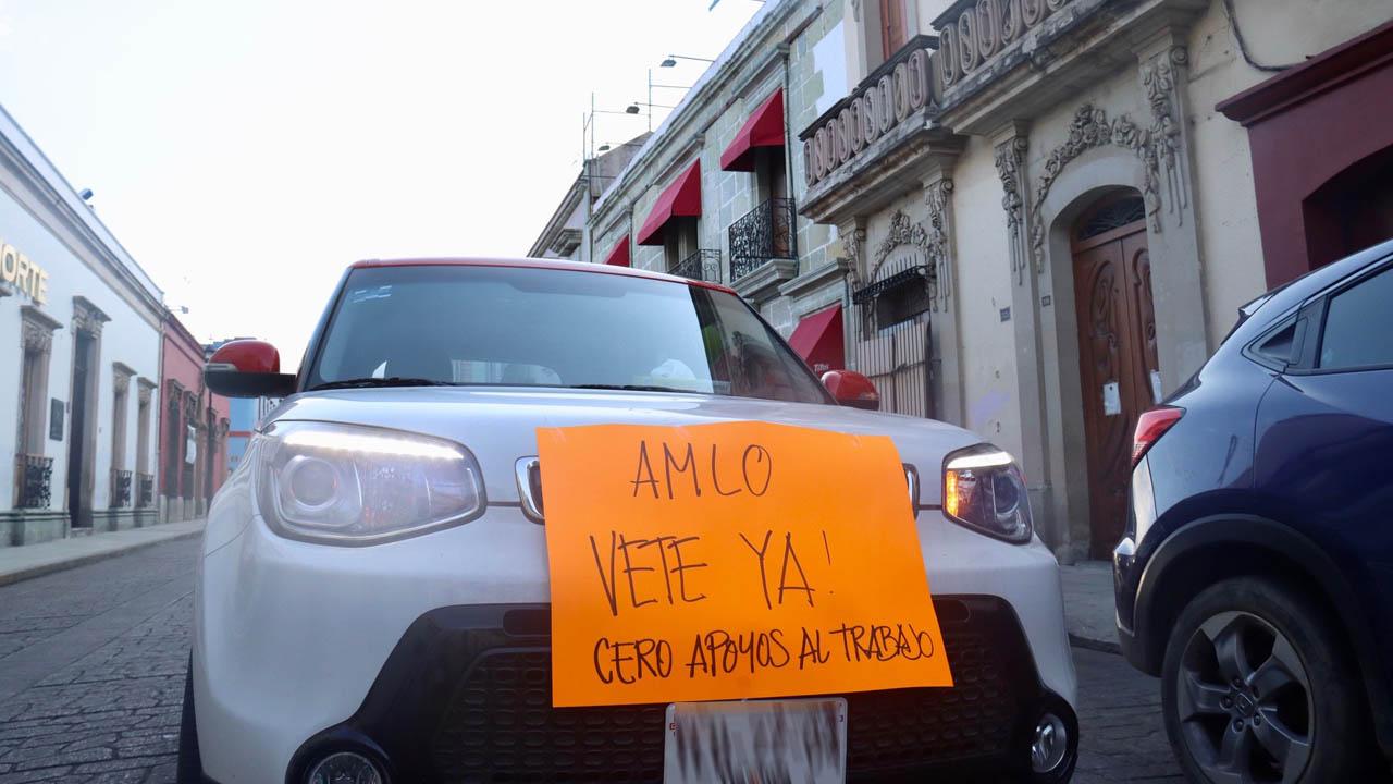 Se suman oaxaqueños a protesta AntiAMLO