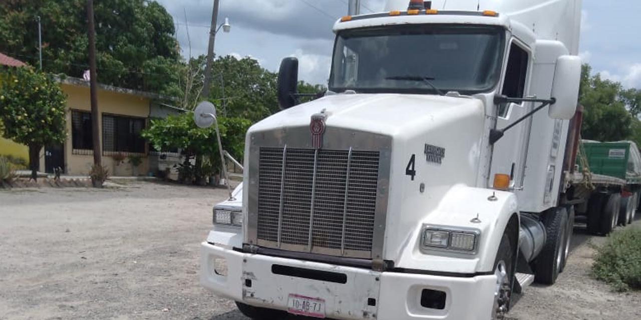 Recuperan tráiler robado en Tapanatepec | El Imparcial de Oaxaca