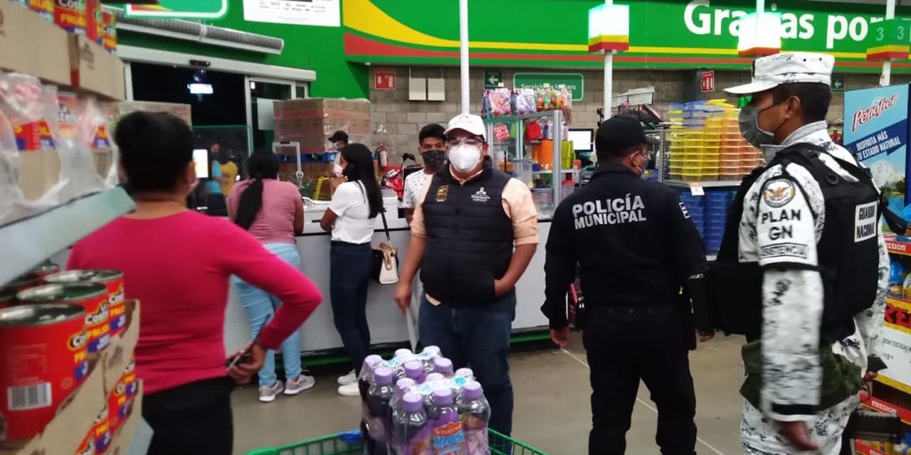 Guardia Nacional refuerza operativos en tiendas de autoservicio de Huajuapan | El Imparcial de Oaxaca