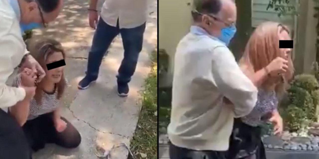 Video: En plena vía pública, exfuncionario agrede y amenaza a su esposa   El Imparcial de Oaxaca