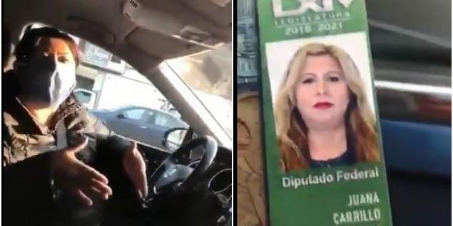 #LadyCharola, diputada usa credencial violar 'Hoy No Circula'   El Imparcial de Oaxaca