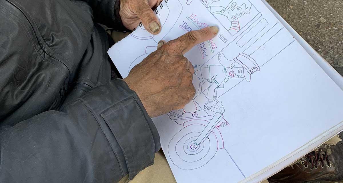 Usuarios de redes sociales piden apoyar a abuelito que vende dibujos para sobrevivir   El Imparcial de Oaxaca