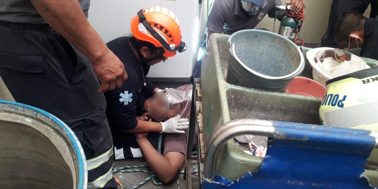 Rescatan a joven de un pozo en Xoxocotlán   El Imparcial de Oaxaca