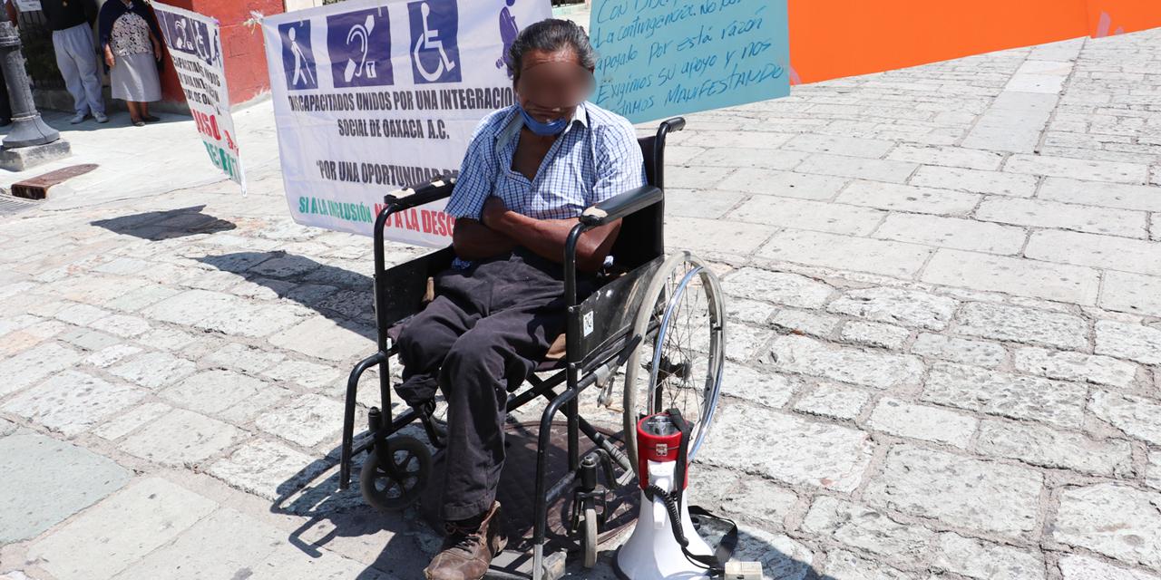Personas con discapacidad mantienen protestas en Oaxaca | El Imparcial de Oaxaca