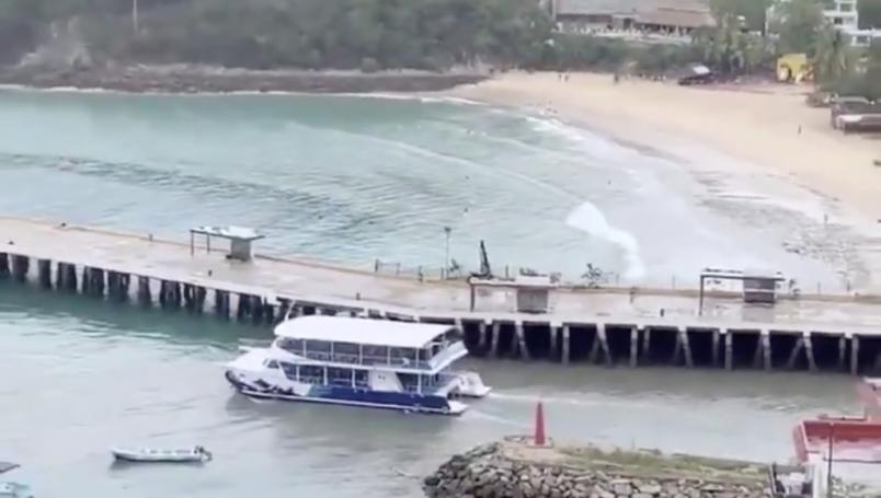 Video: Mar se aleja de las costas luego de sismo de magnitud 7.5   El Imparcial de Oaxaca