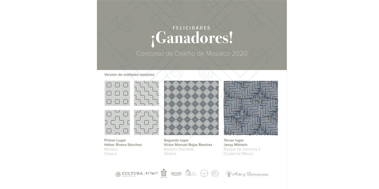 Revelan a los ganadores delConcurso de Diseño de Mosaico