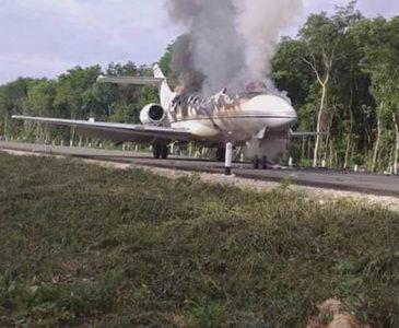 Video: Ejército derriba presunta narcoavioneta en Quintana Roo