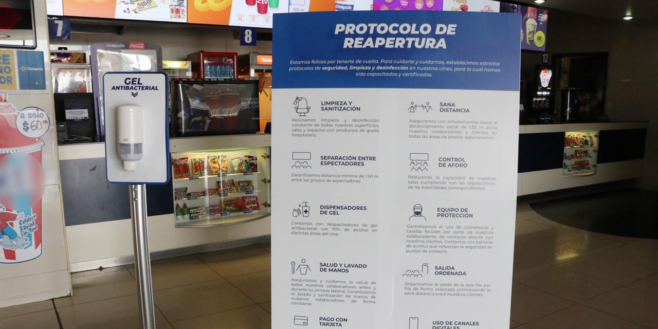 Reabren los cines de Oaxaca por nueva normalidad | El Imparcial de Oaxaca