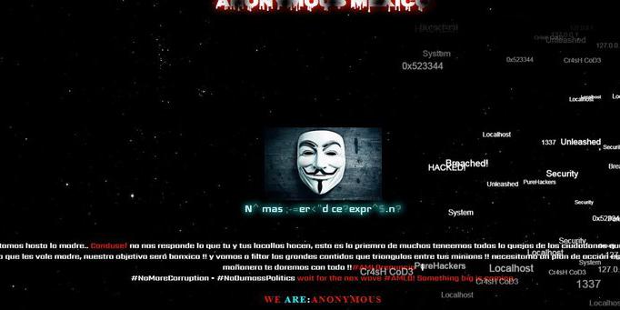 Anonymous hackea el portal de la Condusef   El Imparcial de Oaxaca