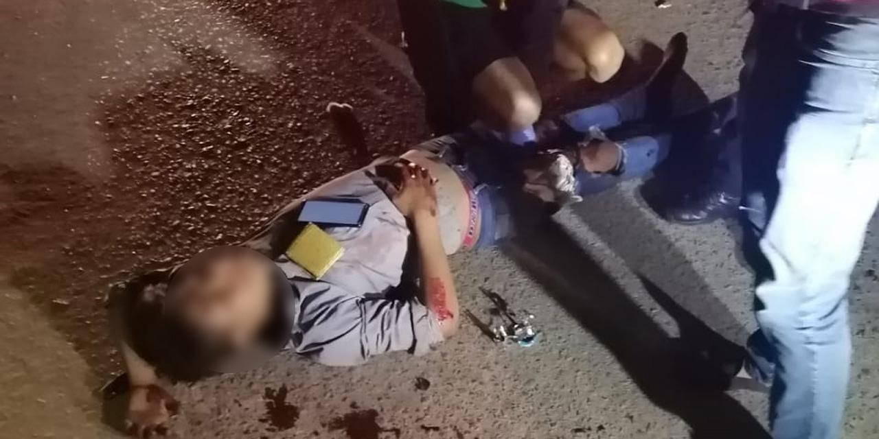 Adolescente en motocicleta derrapa en carretera a Arrazola | El Imparcial de Oaxaca