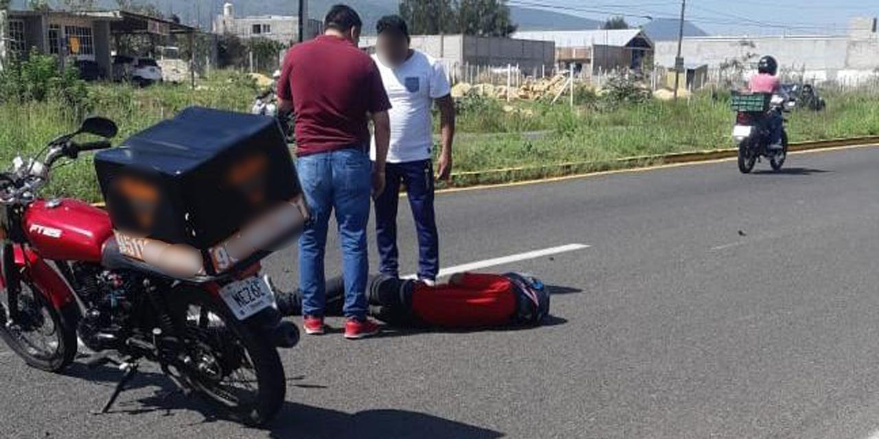 Repartidor de pizzas derrapa en carretera a Zimatlán | El Imparcial de Oaxaca