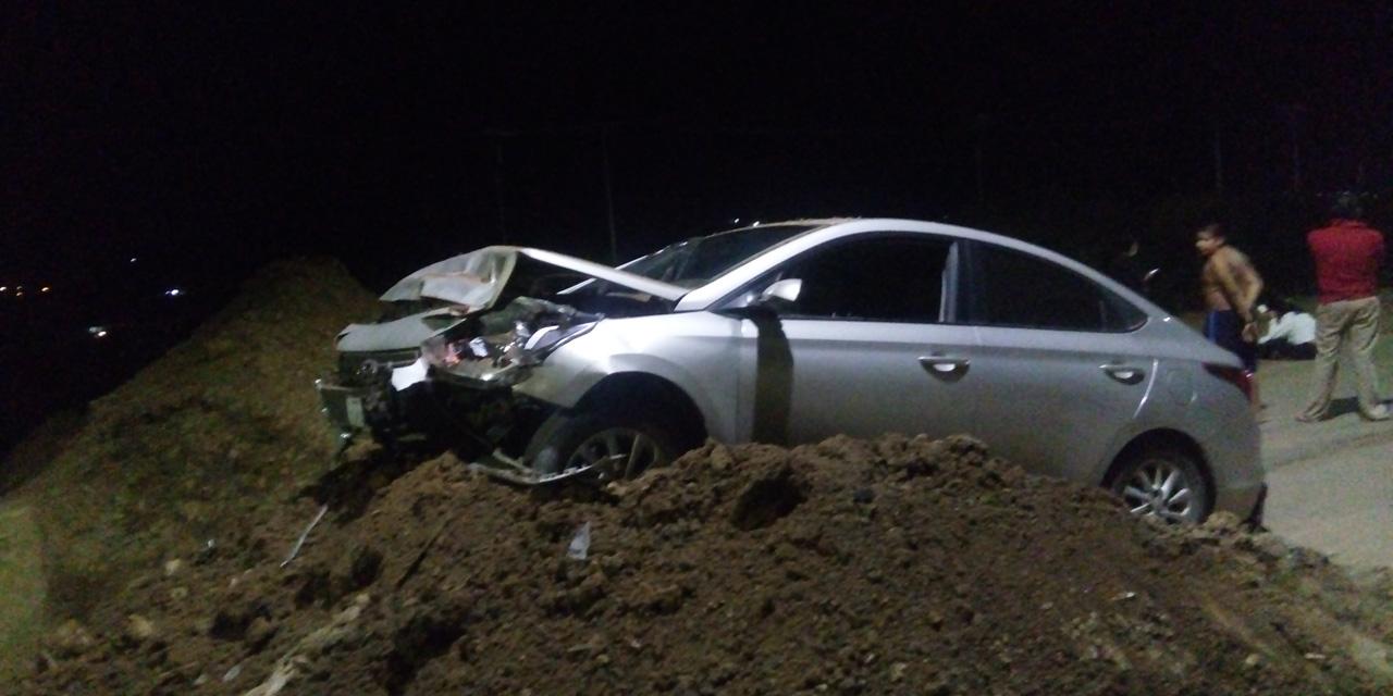 Accidente en zona de obra del Río Salado; chofer en estado de ebriedad   El Imparcial de Oaxaca