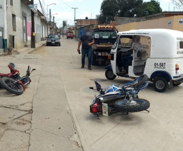 Encontronazo entre dos motociclistas en Ocotlán