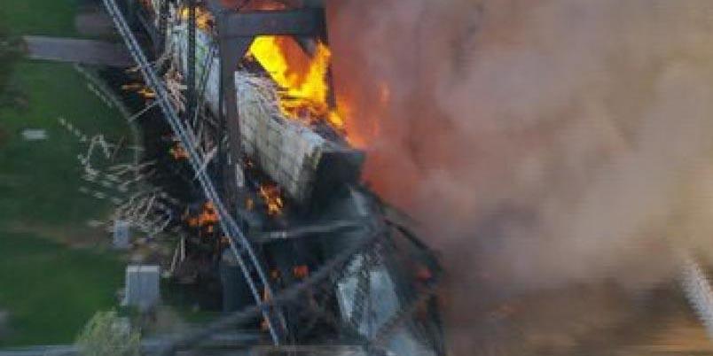 Video:  Tren descarrila y termina en fuerte incendio en Arizona | El Imparcial de Oaxaca
