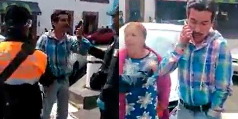 Video: Sujeto usa 'charolazo' para librarse de multa en Edomex | El Imparcial de Oaxaca