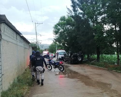 ¡Volcadura fatal en Cuilápam!