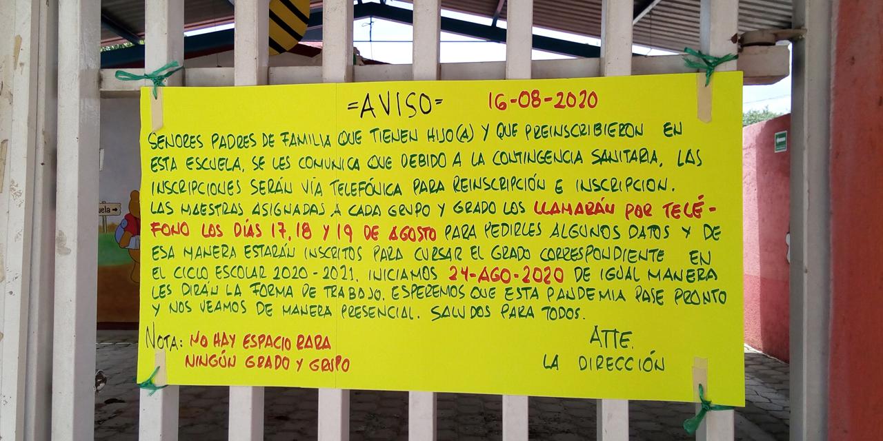 Reinscripciones en Oaxaca avanzan lentamente | El Imparcial de Oaxaca