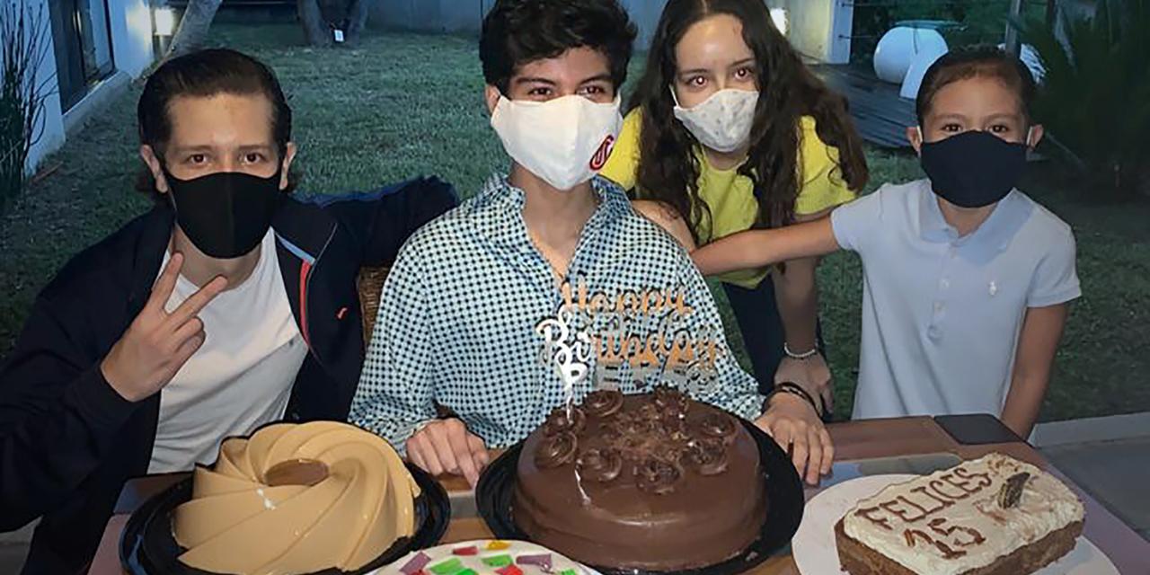 Pepe compartió un rico pastel de cumpleaños