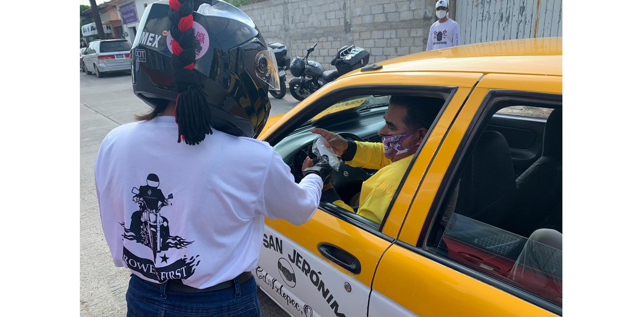 Motociclistas regalan cubrebocas en Ciudad Ixtepec | El Imparcial de Oaxaca