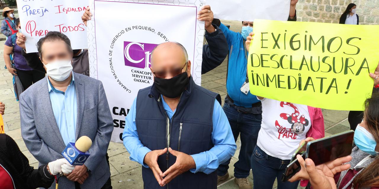 Canacope protesta por clausura de bares en Oaxaca | El Imparcial de Oaxaca