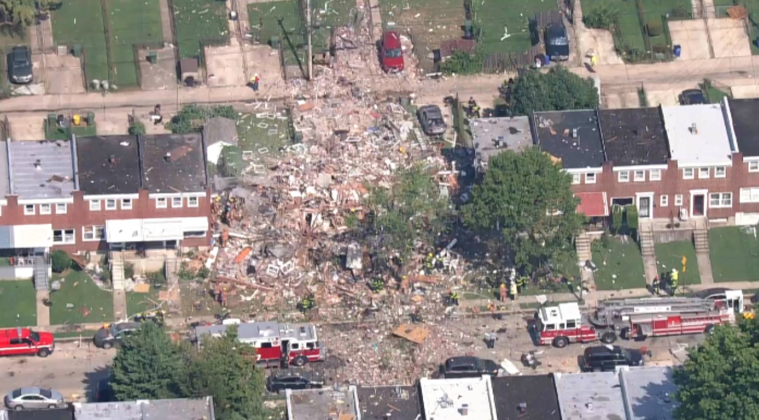 Video: Gran explosión en Baltimore, EU, destruye 3 edificios residenciales | El Imparcial de Oaxaca