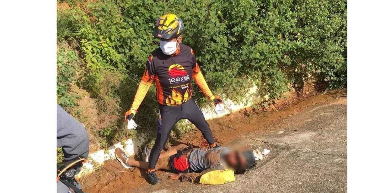 Ciclista sufre violenta caída en carretera a Tuxtepec | El Imparcial de Oaxaca