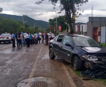 Cadena de accidentes en Oaxaca