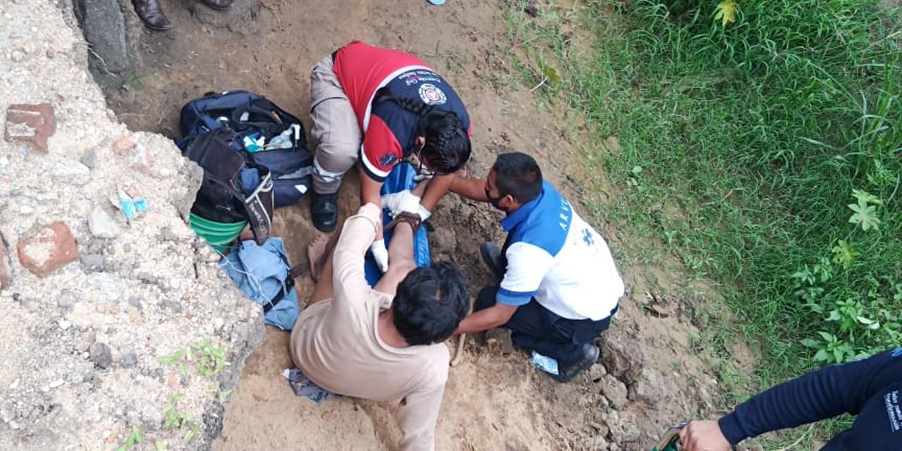 Hombre se fractura las piernas al caer a barranco del Río Atoyac | El Imparcial de Oaxaca