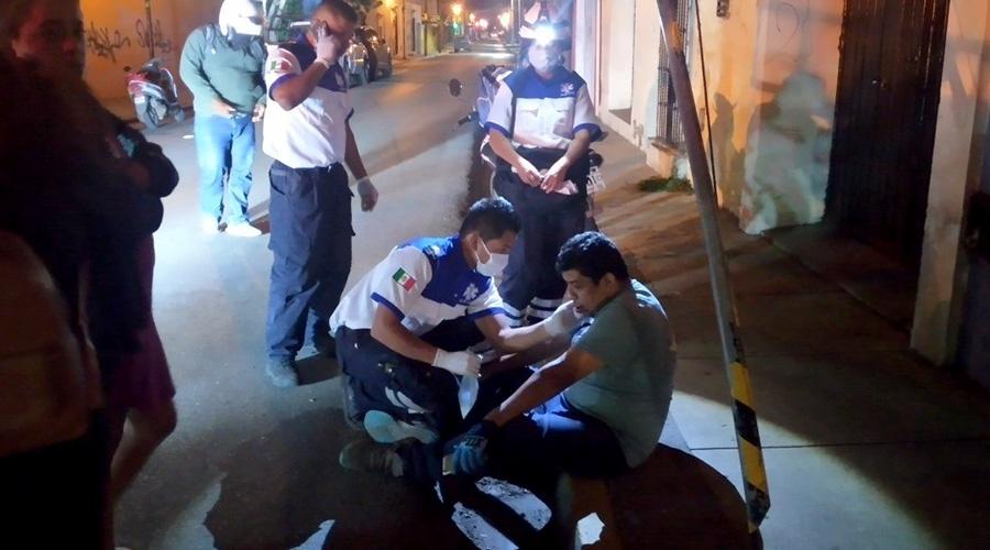 Ebrio motociclista derrapa en Centro Histórico de Oaxaca | El Imparcial de Oaxaca
