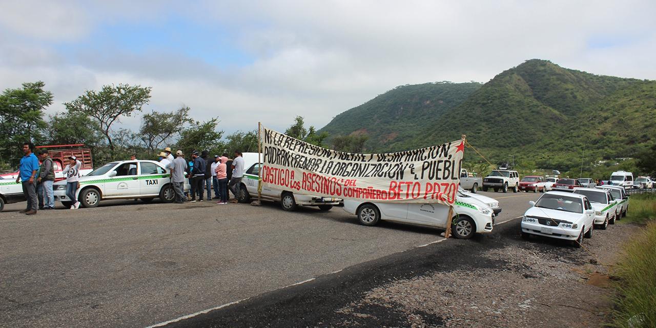 API demanda rescate de taxis; exigen justicia por su líder | El Imparcial de Oaxaca