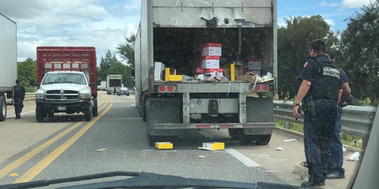 Transportistas exigen frenar rapiña y saqueos en autopista de Oaxaca | El Imparcial de Oaxaca