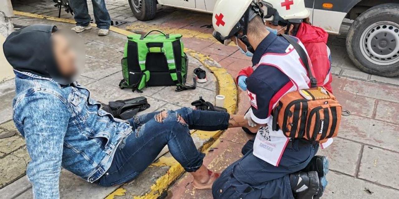 Taxista atropella a un repartidor de comida | El Imparcial de Oaxaca