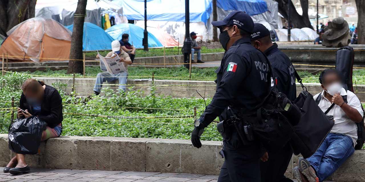 Operativo de seguridad mínima en Alameda y Zócalo por ceremonia de El Grito   El Imparcial de Oaxaca