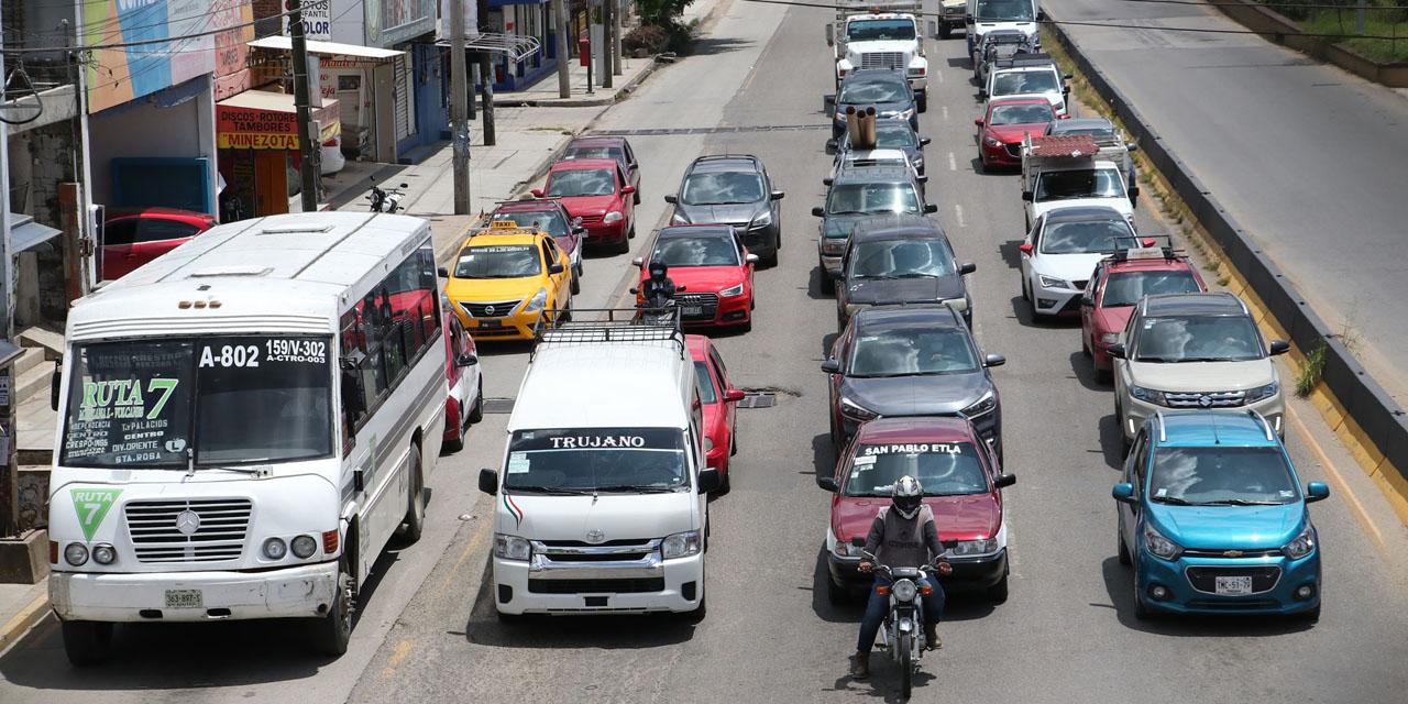 Circulación supera con creces parque vehicular de Oaxaca de Juárez | El Imparcial de Oaxaca