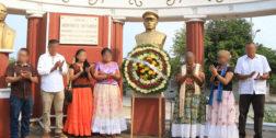 "Roban busto del General ""Charis"" en Juchitán"