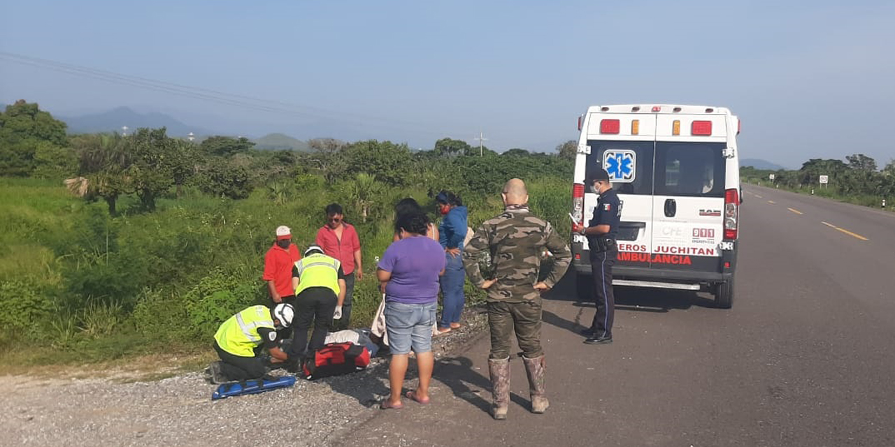 Arrollan a motociclista en carretera Matías Romero-La Ventosa | El Imparcial de Oaxaca