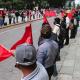 Protesta Antorcha Campesina en la ciudad de Oaxaca