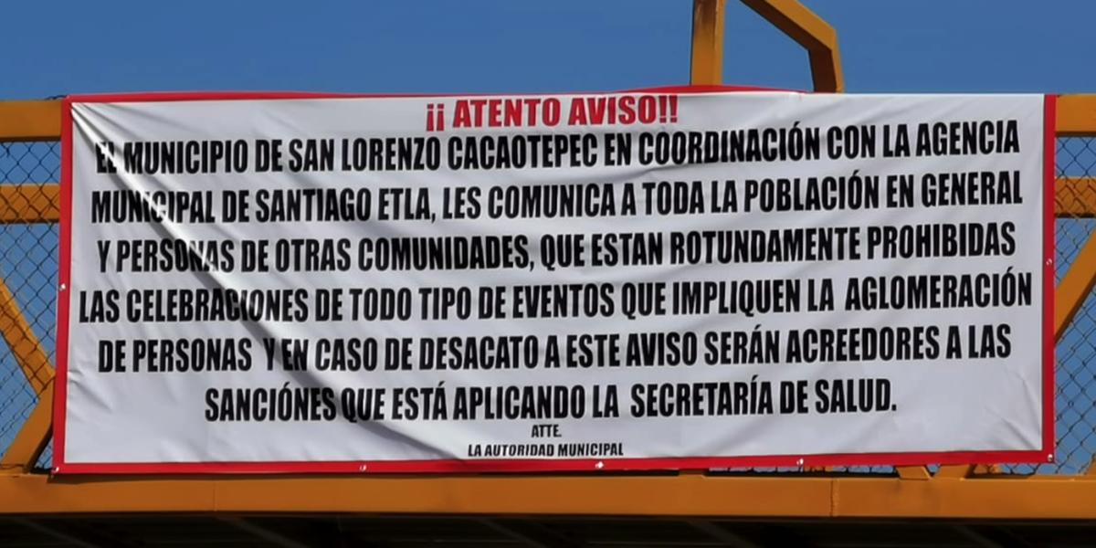 Poblaciones prohiben actividades públicas para evitar contagios por Covid-19 | El Imparcial de Oaxaca