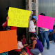 Habitantes de Xoxocotlán protestan en la Conagua