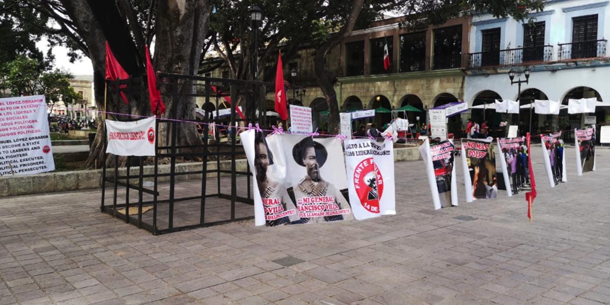 Mantiene Frente Popular 14 de Junio su plantón | El Imparcial de Oaxaca