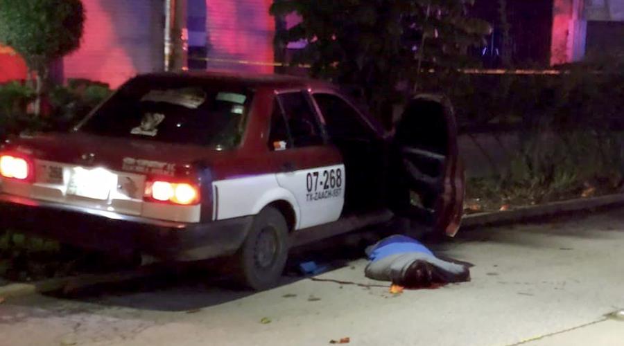 Los acribillan en un taxi en Calzada Madero