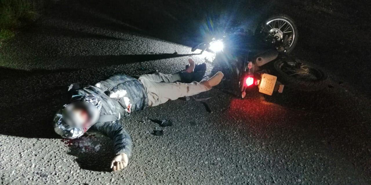 Motociclista se estrella de cabeza en Zimatlán | El Imparcial de Oaxaca