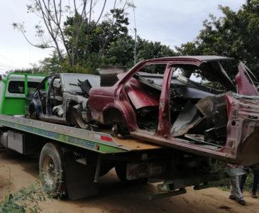 Aseguran vehículos robados en cateo en Xoxo