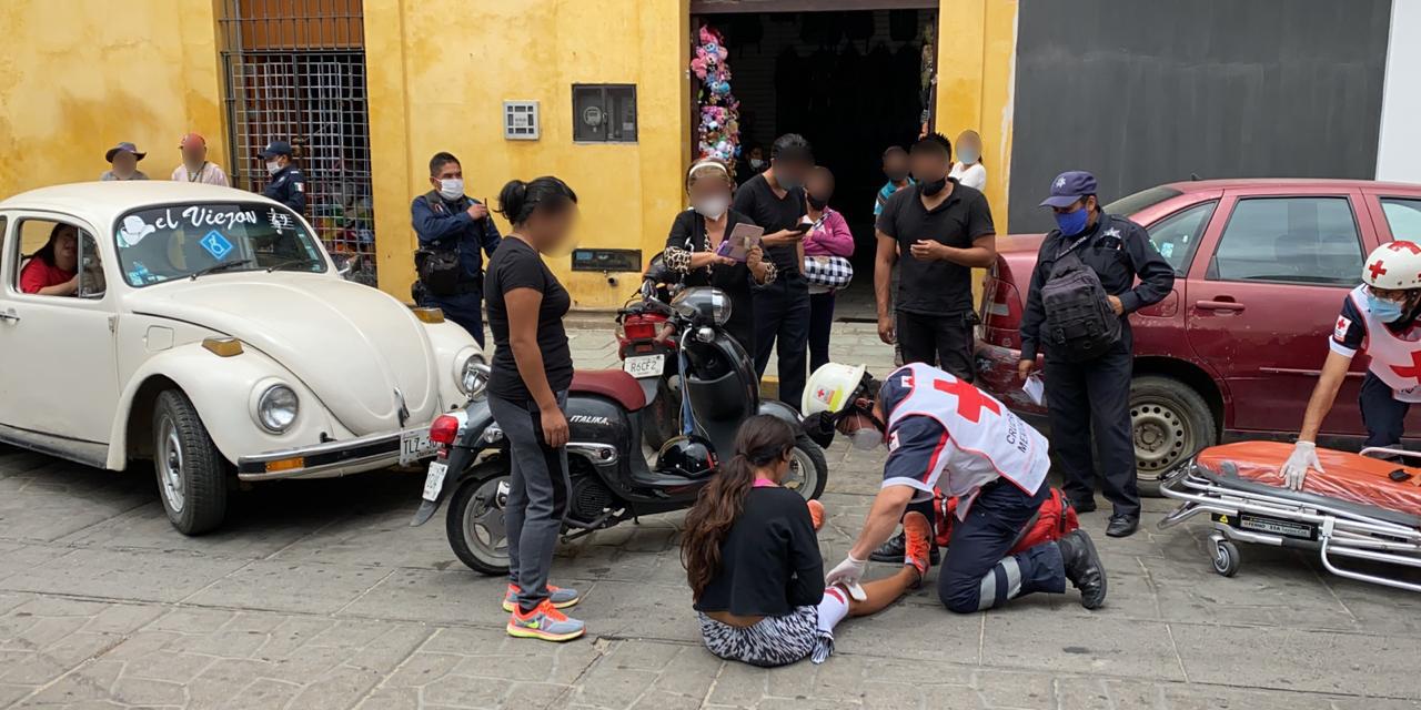 Atropellan a motociclista en céntricas calles de Oaxaca | El Imparcial de Oaxaca