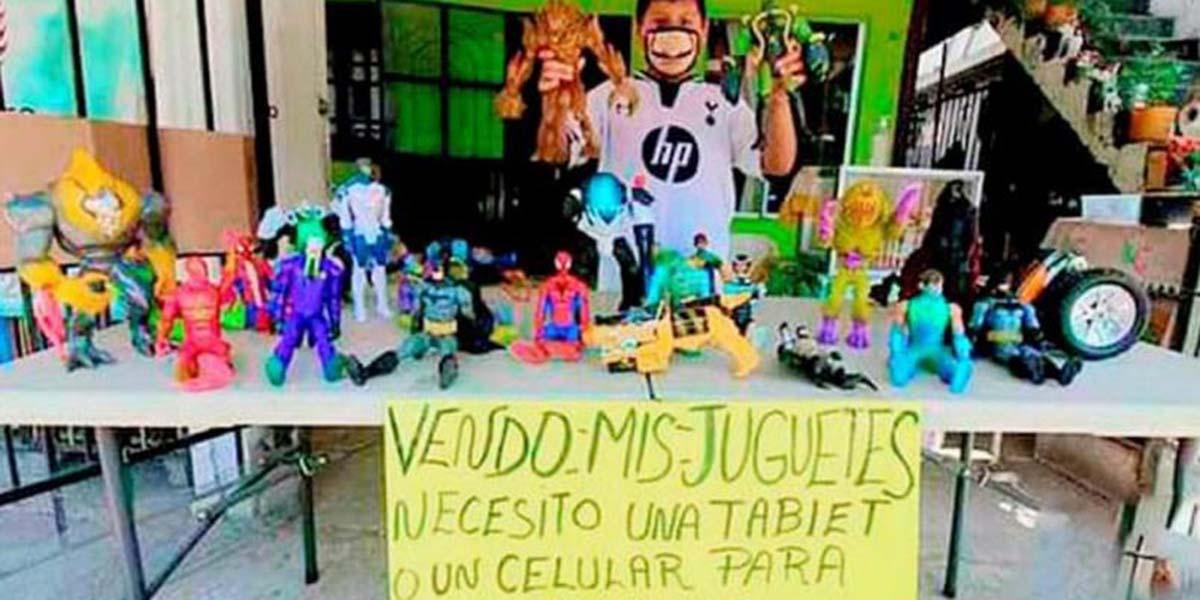 Niño en Tamaulipas vende sus juguetes para poder comprar una tablet para sus clases | El Imparcial de Oaxaca