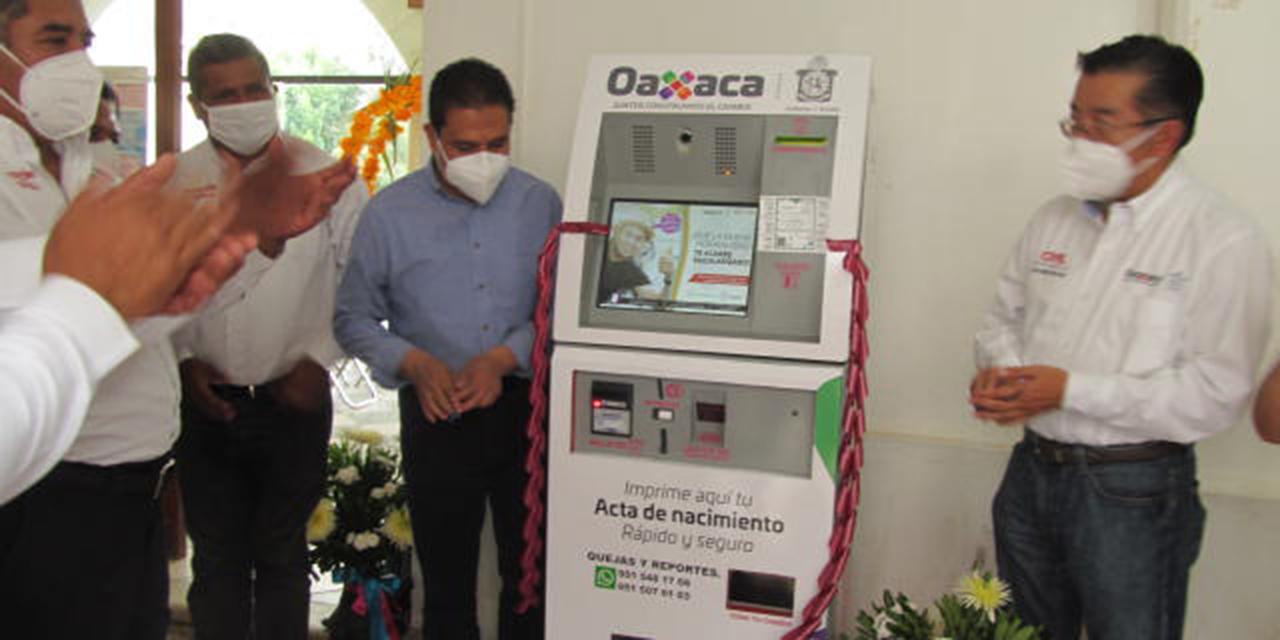 Inauguran Módulos Digitales del Registro Civil en Huautla y Chilchotla   El Imparcial de Oaxaca