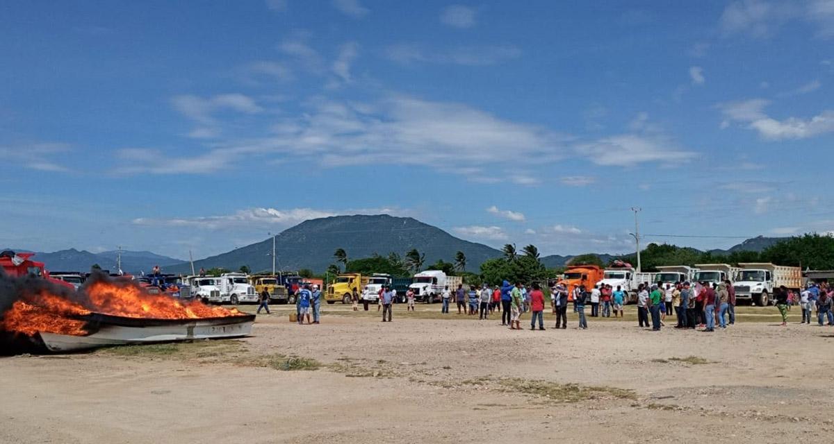 Barcos varados por alto costo de diésel en el Istmo de Tehuantepec
