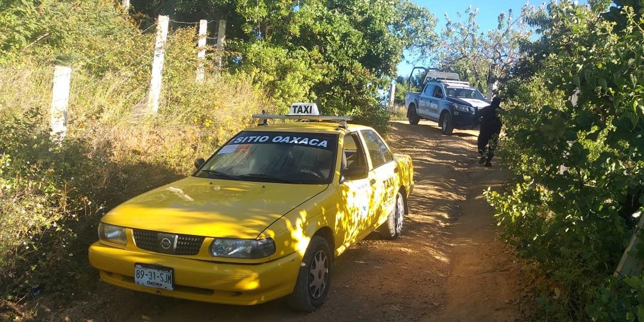 Recuperan taxi robado en ejido Guadalupe Victoria