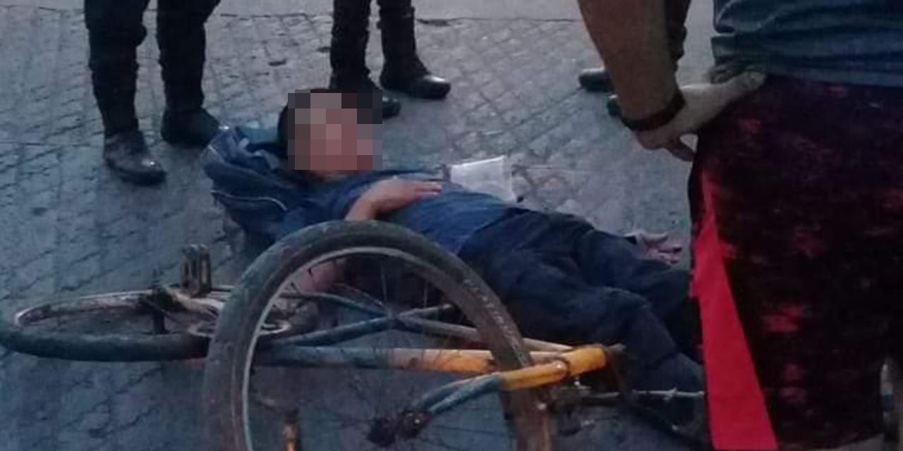 Arrollan a policía de  la PABIC en Juchitán